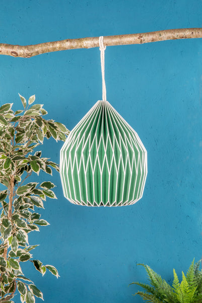 Paper Lampshade: Green Pear