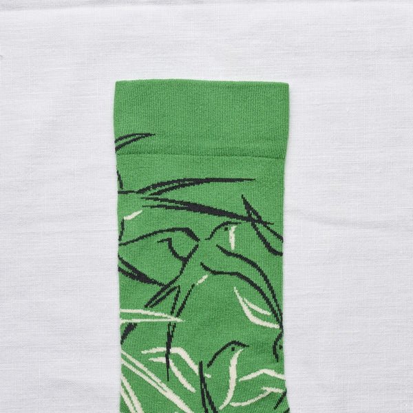 Bonne Maison Socks: Green Birds