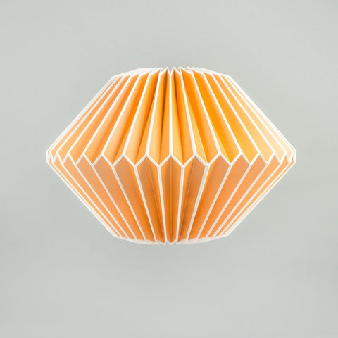 Paper Lampshade: Orange Diamond