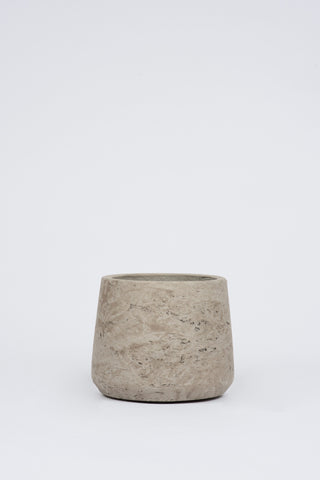 Curved Cement Pot: Small