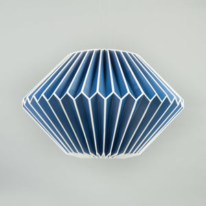 Paper Lampshade: Blue Diamond