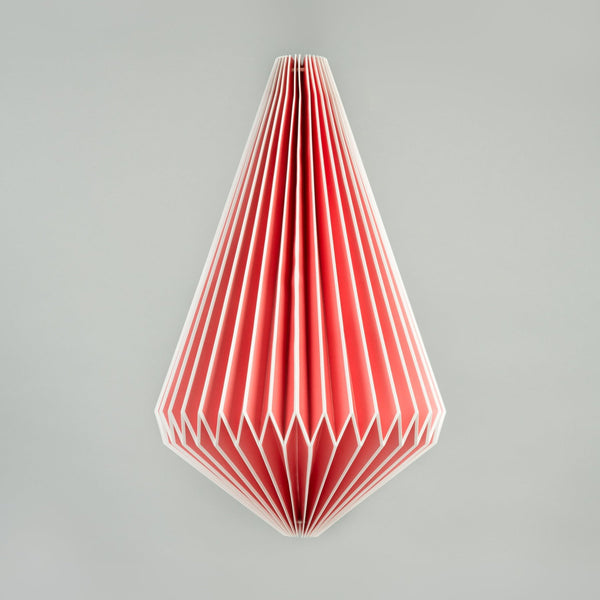 Paper Lampshade: Red Teardrop