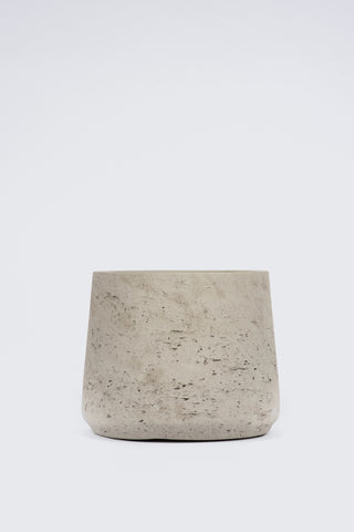 Curved Cement Pot: Large
