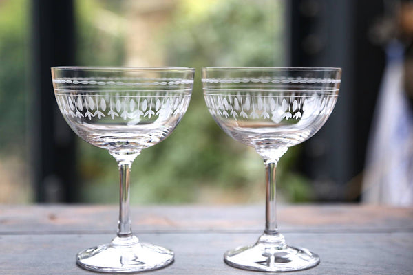 Pair of Champagne Saucers