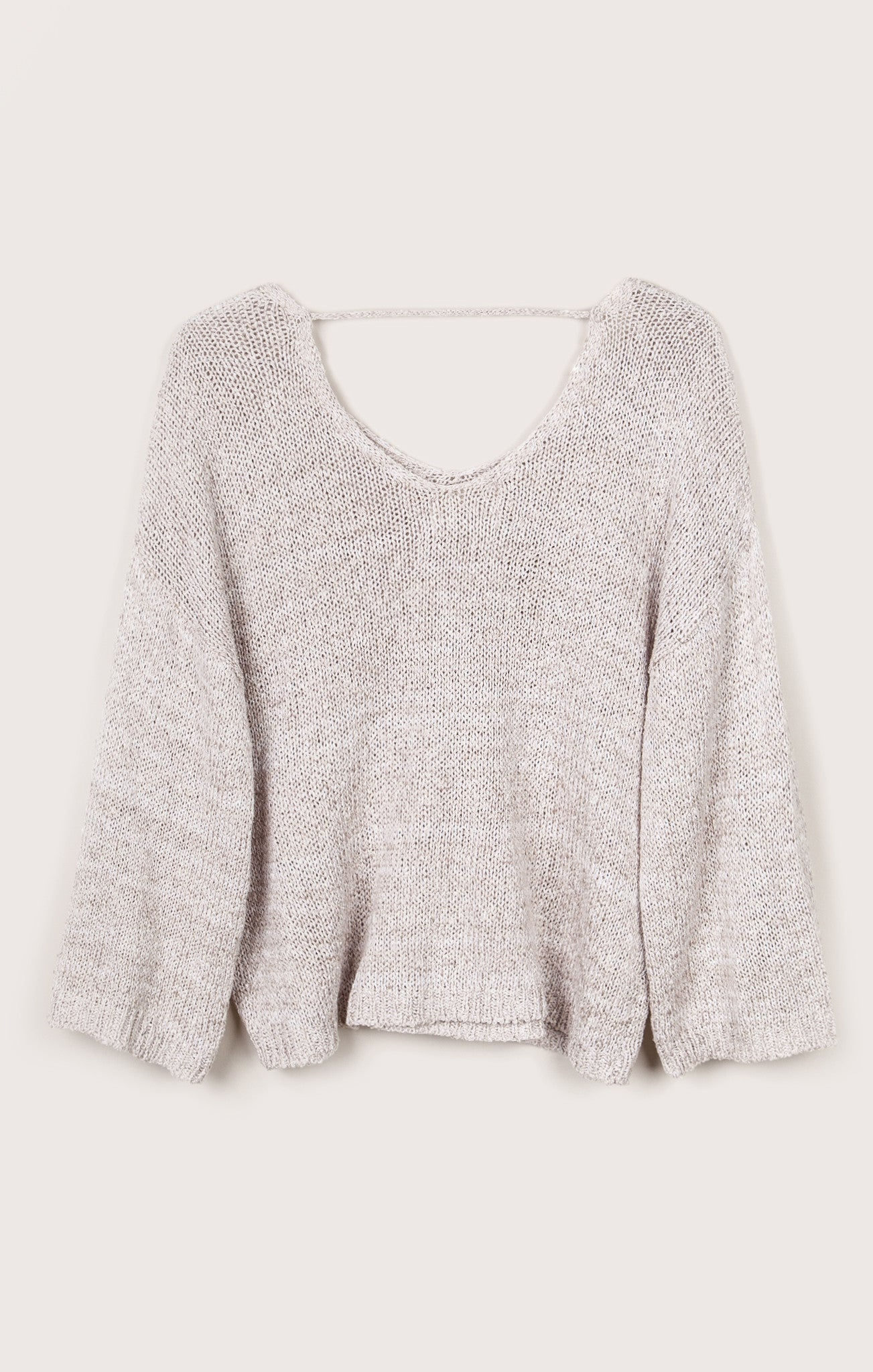 KNIT TOP WITH LOW BACK