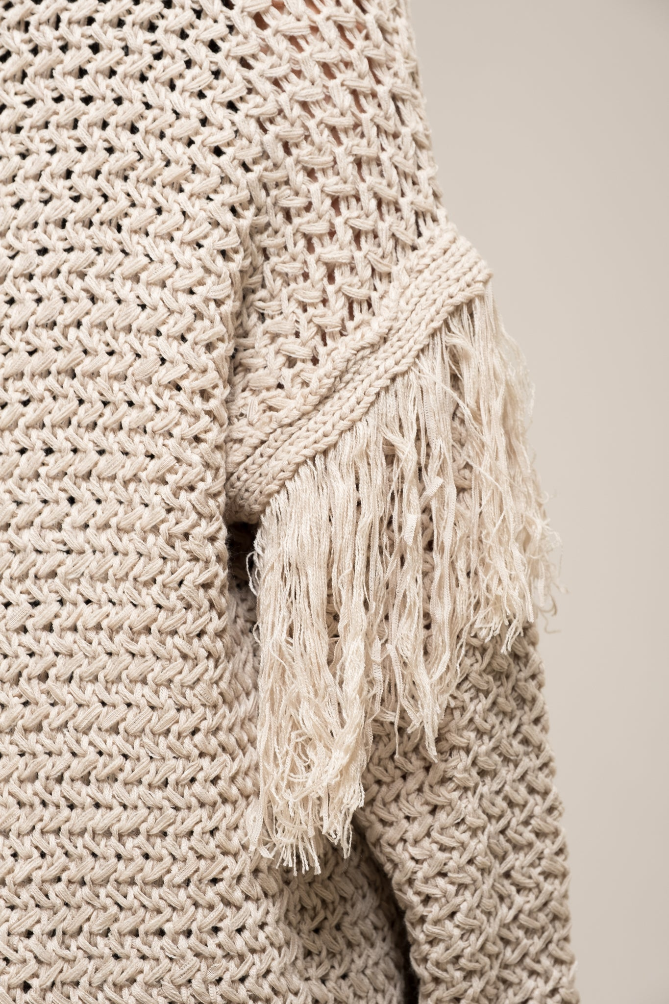 KNIT LONG DUSTER CARDIGAN