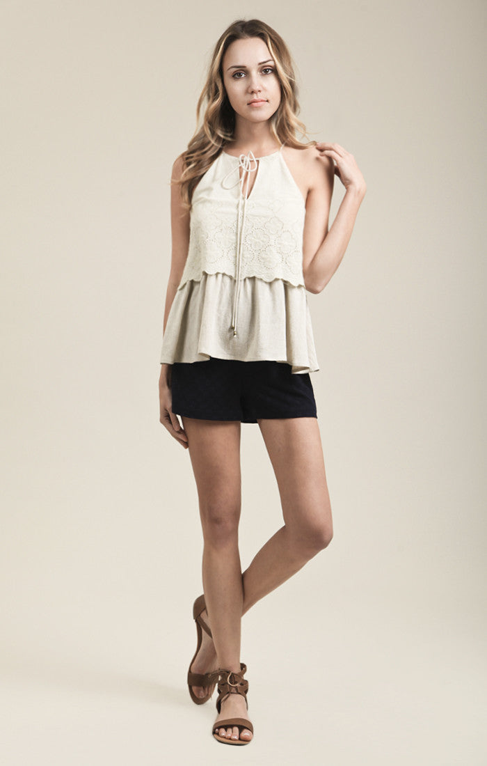 LINEN TWO LAYER TOP