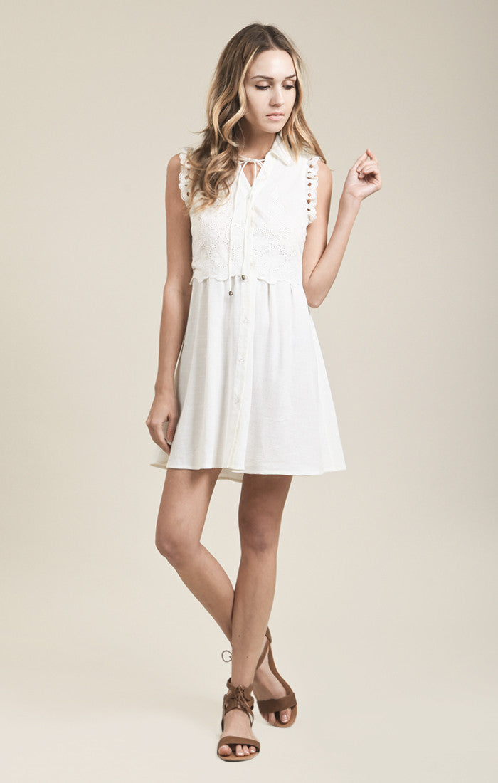 LINEN TWO LAYER DRESS