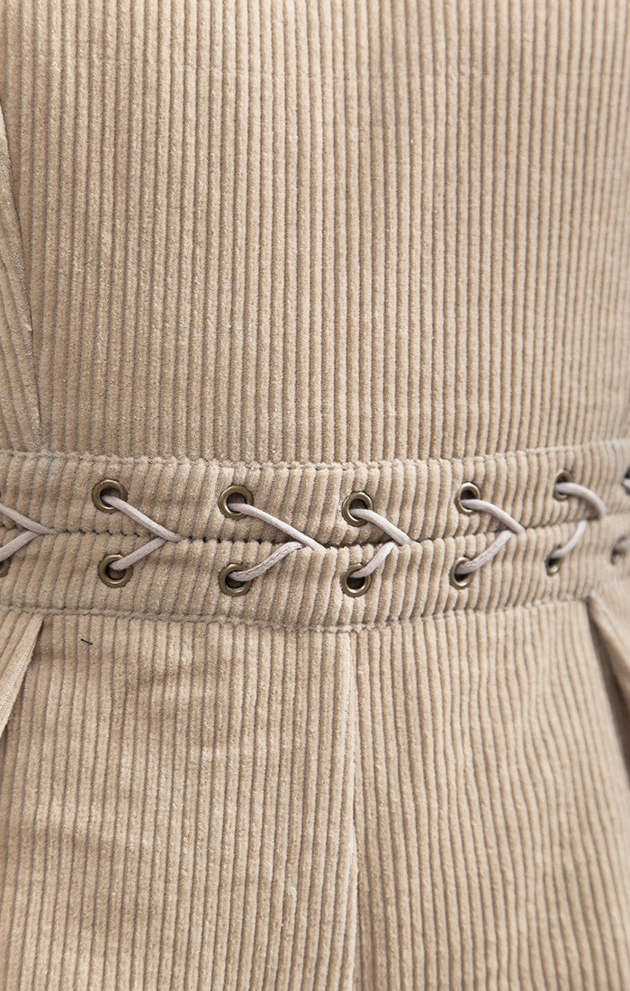 CORDUROY ROMPER WITH STUD DETAIL