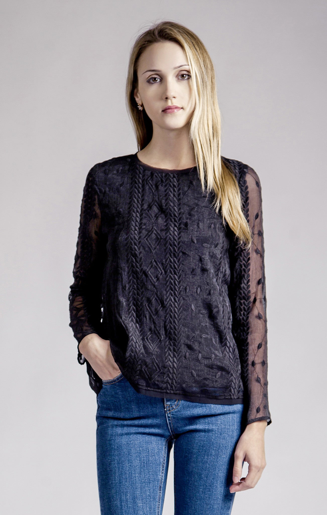 ORGANZA LACE TOP