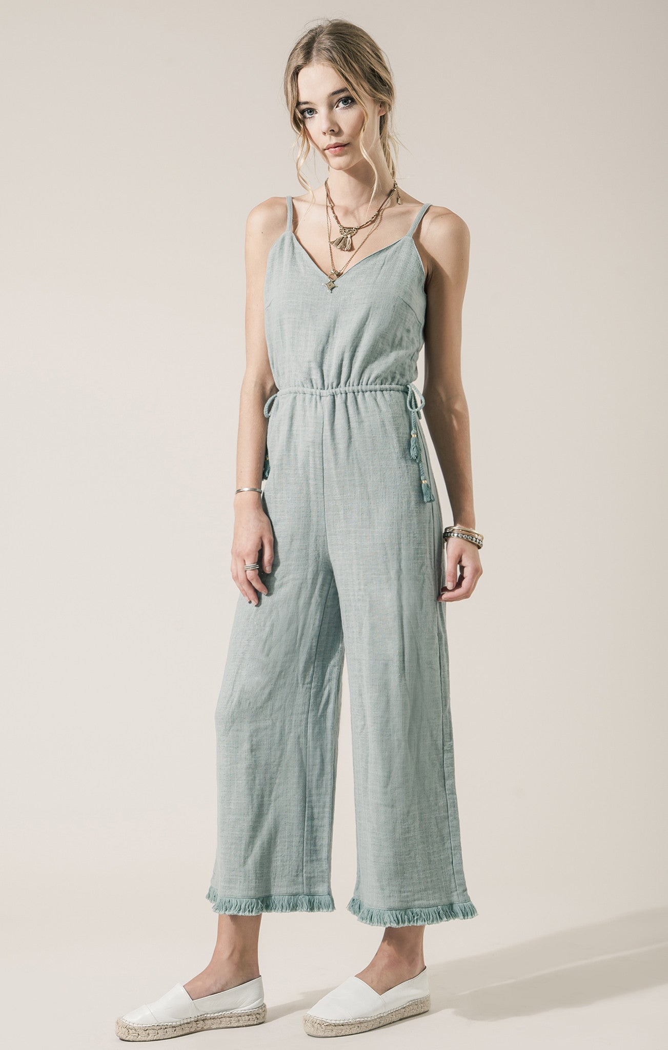 ROMPER WITH TASSELS