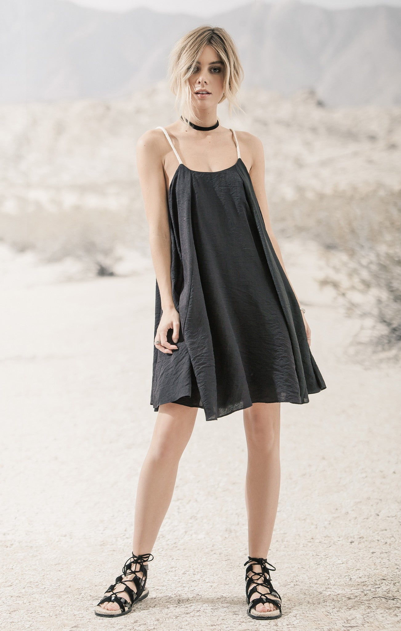 SWING DRESS WITH ROPE STRAPS