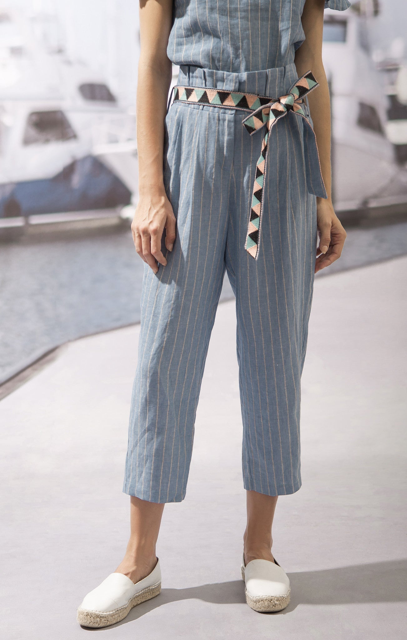 PANTS WITH EMBROIDERED BELT