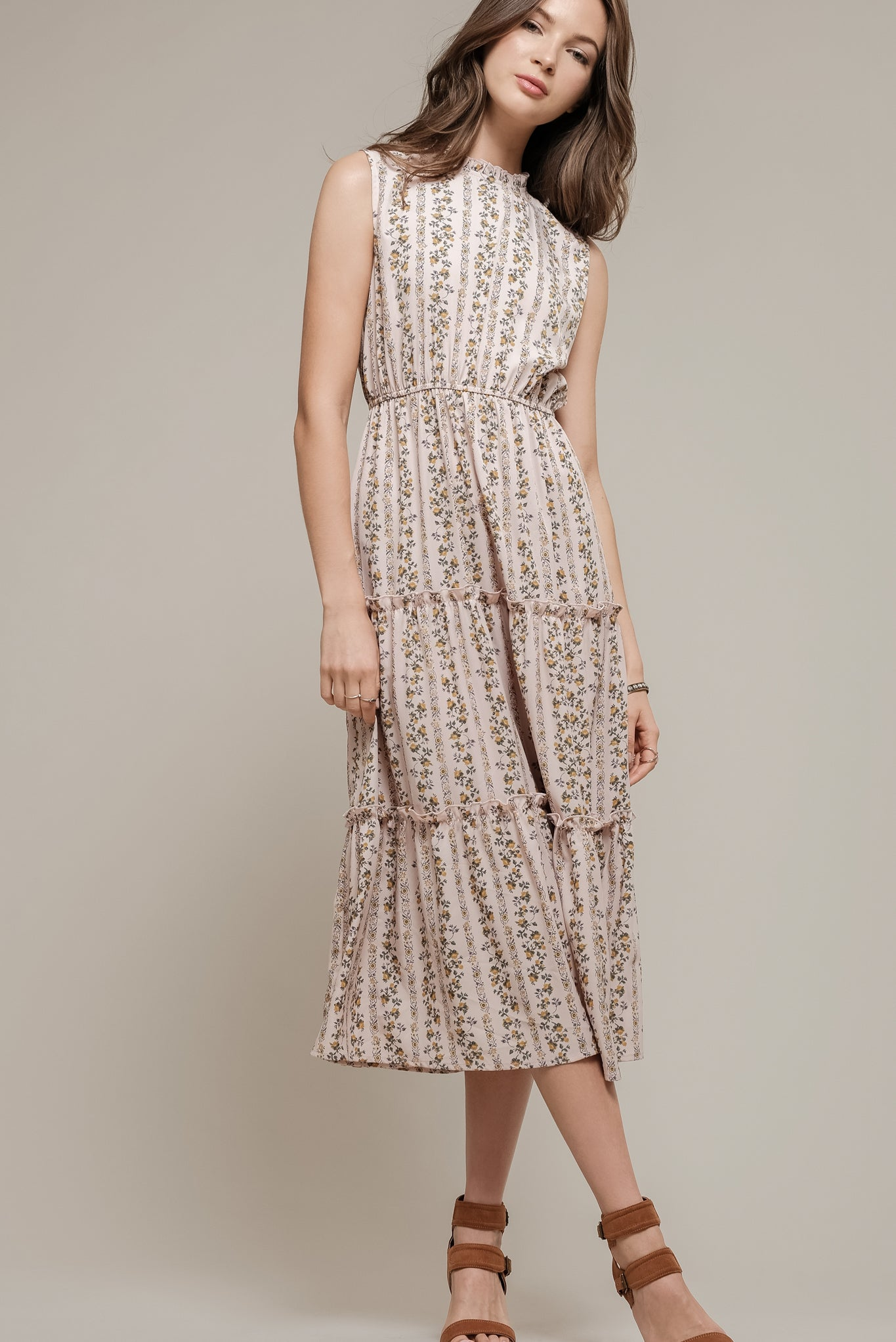 041dd7beeb SLEEVELESS LONG DRESS WITH TIERED SKIRT – Moon River