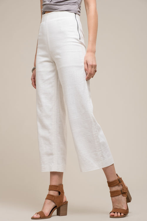 WIDE LEG PANTS WITH ROLL OVER HEM