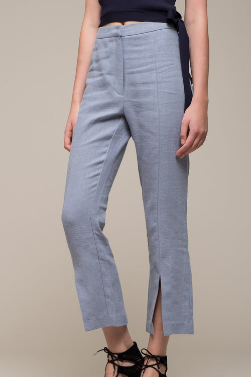 CROPPED PANT WITH SLITS