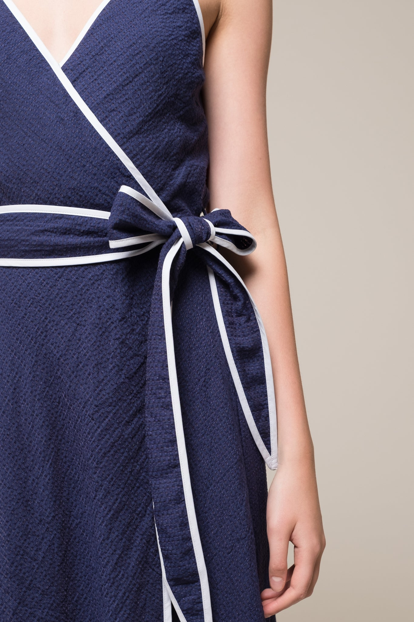 SPAGHETTI STRAP WRAP DRESS