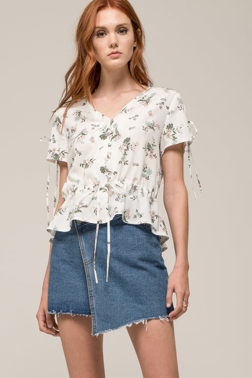 SLEEVE TIE BUTTON DOWN TOP