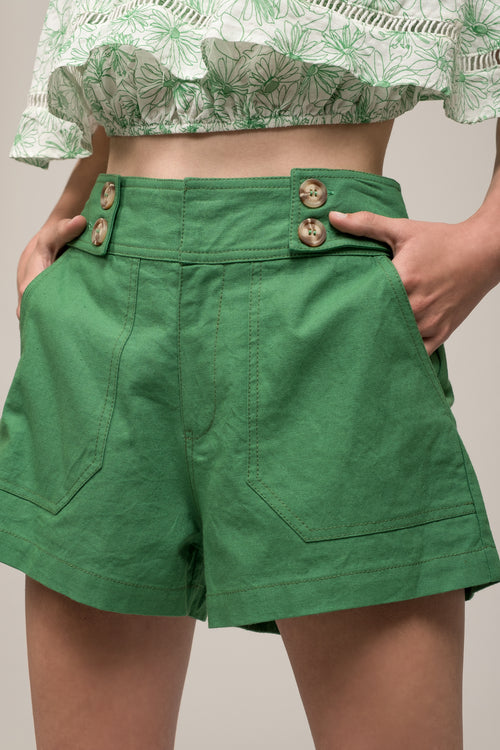 BUTTON WAIST SHORTS