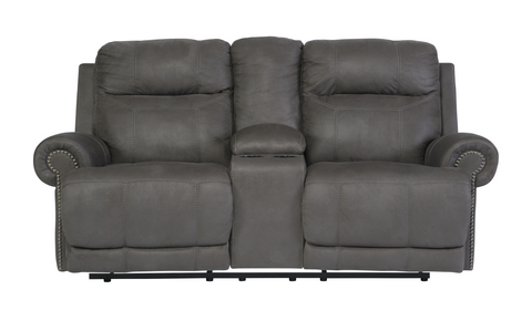 Austere Power Reclining Loveseat w/Console