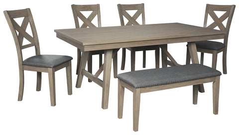 Alec 6 Pc. Dining (with Bench)