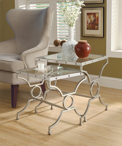 Glass Nesting Tables-2 Pc. Set