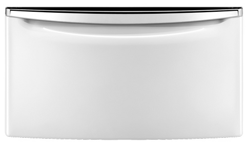"Laundry 123 15.5"" Laundry Pedestal with Chrome Handle and Storage Drawer"