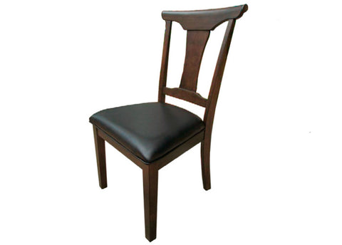 Brooklyn Heights T-Back Side Chair w/upholstered seat