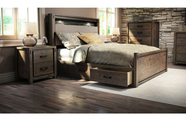 Stockton Queen King Platform Bed Drawer Kit Arctic Home