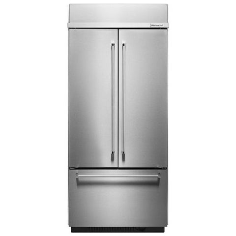 Kitchenaid 208 Cu Ft 36 Width Built In Stainless Steel French