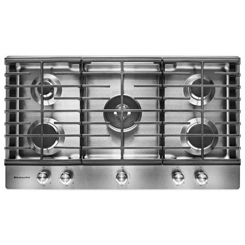 Kitchenaid 36 5 Burner Gas Cooktop With Griddle Arctic Home