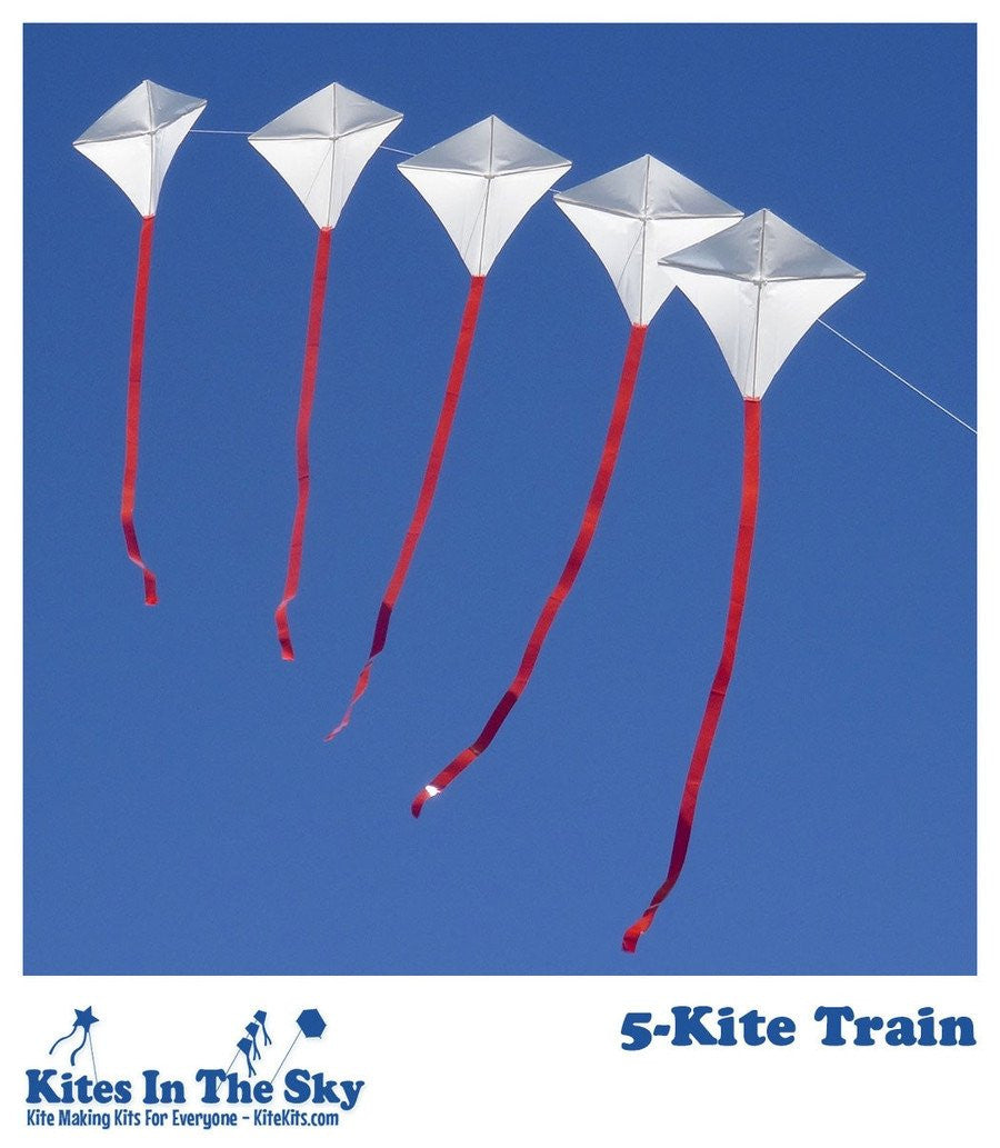 Beginner Kite Kit - 5-Kite Train DIY Kite Kit