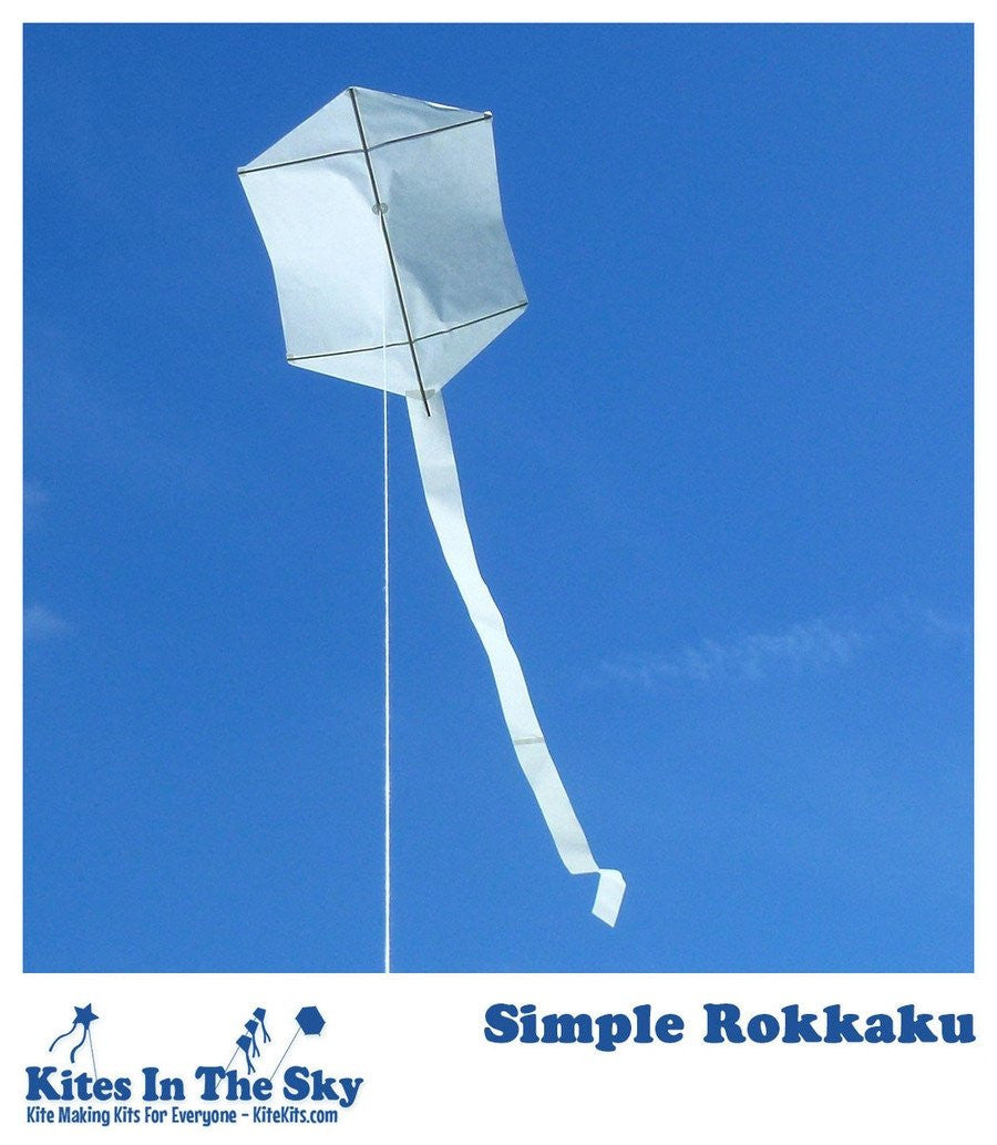 Beginner Kite Kit - Simple Rokkaku DIY Kite Kit (10 Pk)