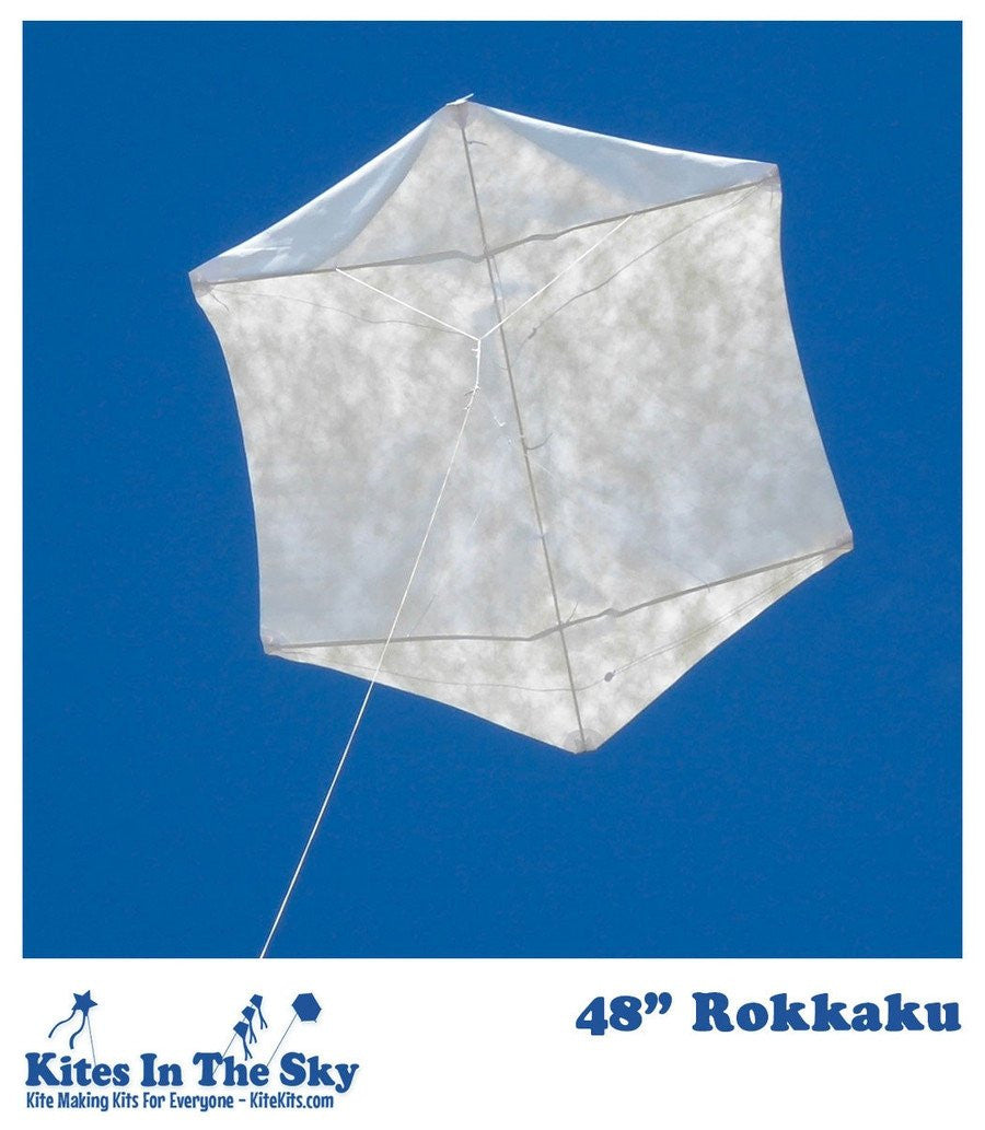 "Intermediate Kite Kit - 48"" Rokkaku DIY Kite Kit"