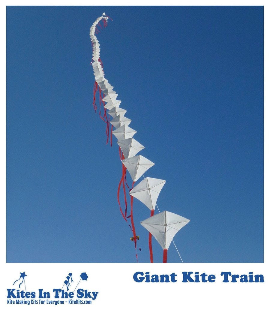 Giant Kite Train DIY Kite Kit (60 sails) - Kites In The Sky