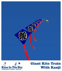 Giant Kite Train w/Kanji DIY Kite Kit (60 or 70 sails) - Kites In The Sky