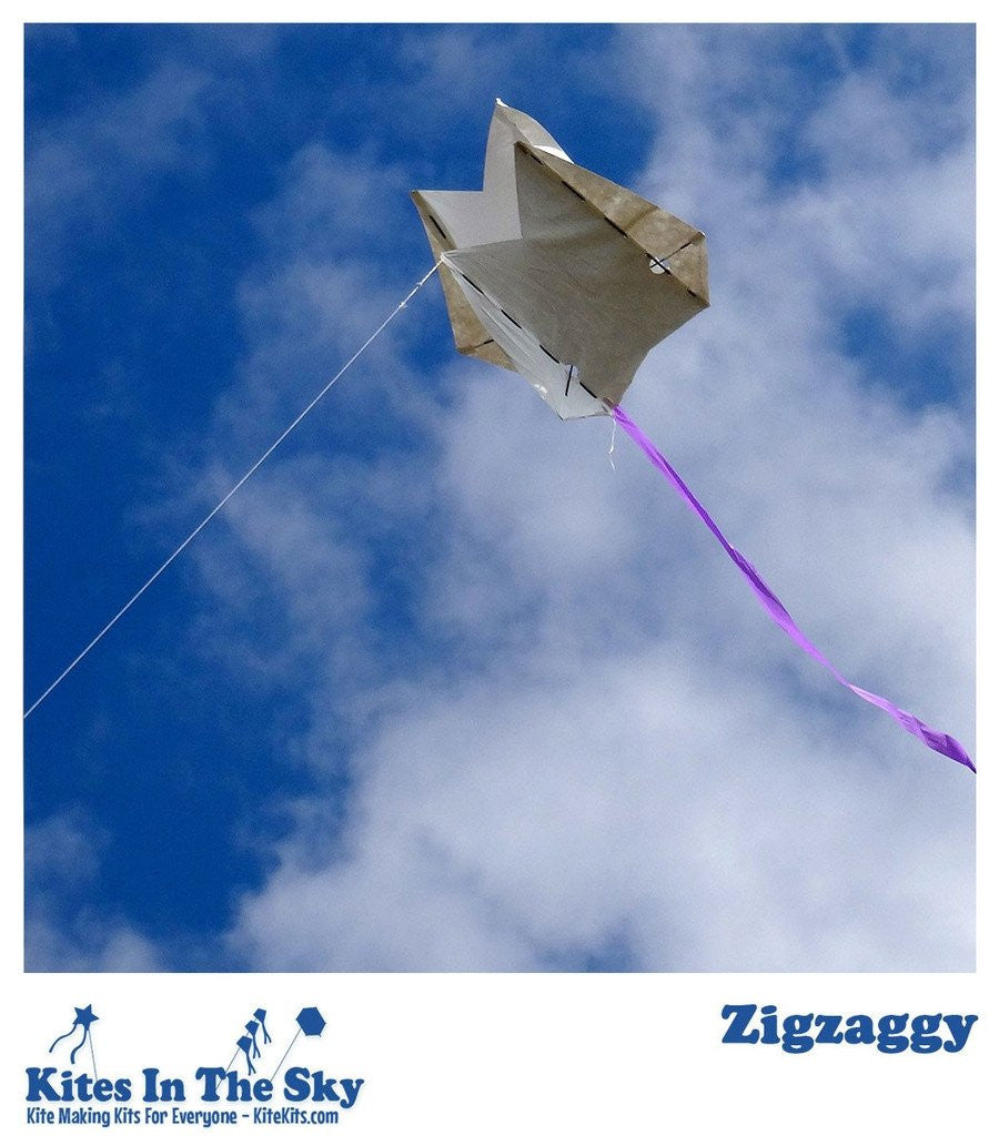 Intermediate Kite Kit - Zigzaggy Kite DIY Kite Kit (10 Pk)