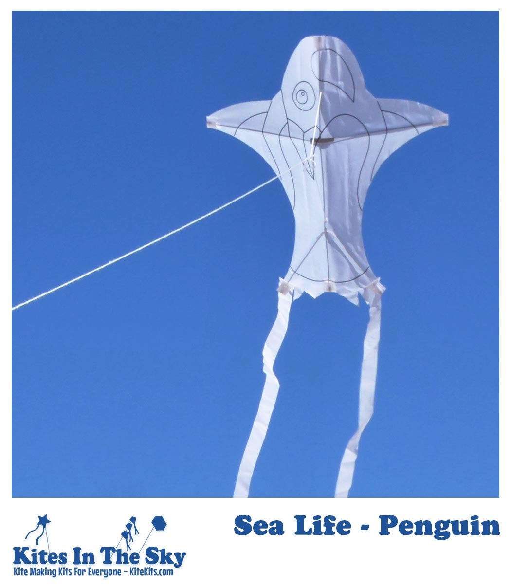 Sea Life - Penguin Kite Kit (1pk-4pk) - Kites In The Sky