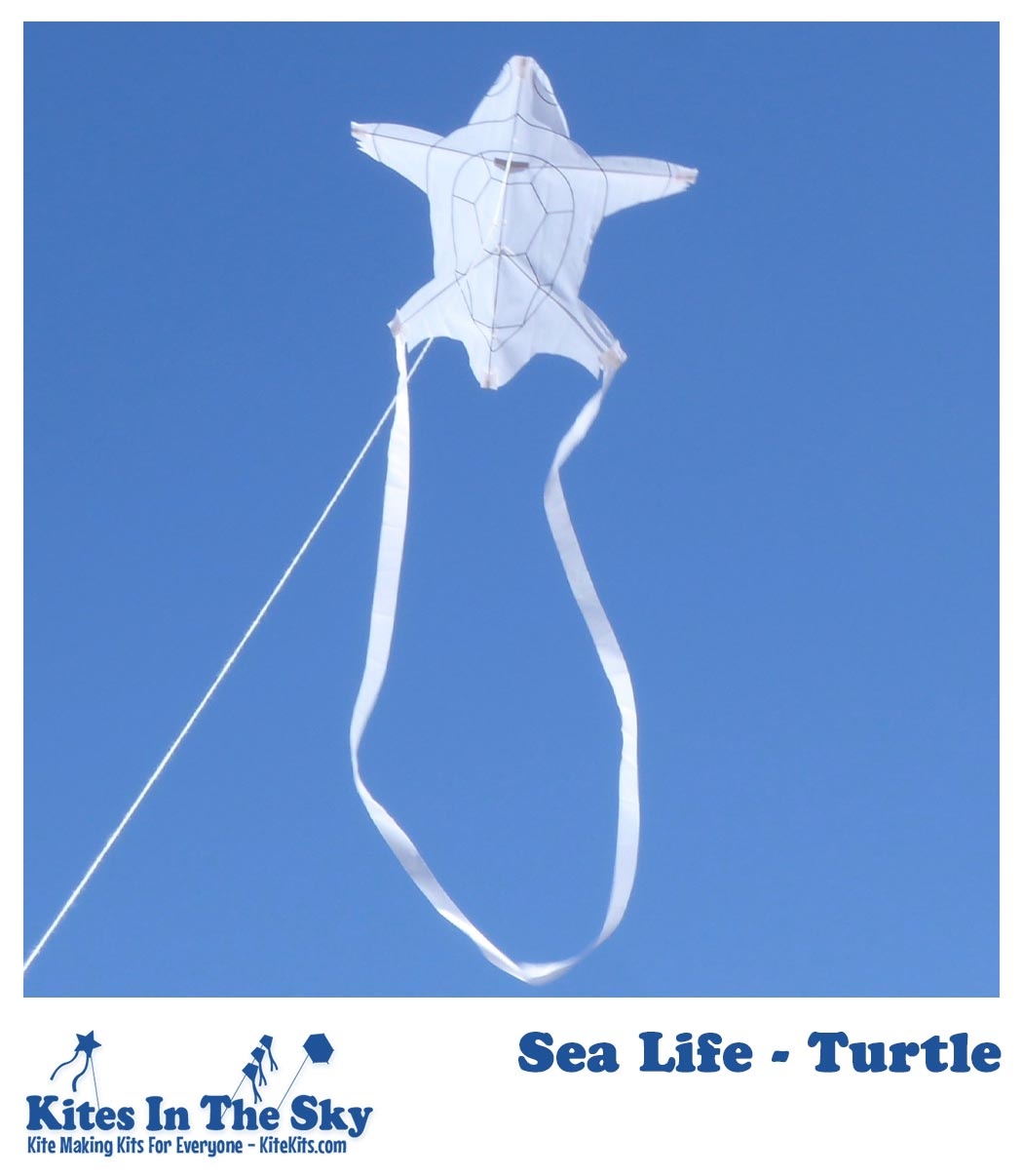 Sea Life - Turtle Kite Kit (1pk-4pk) - Kites In The Sky