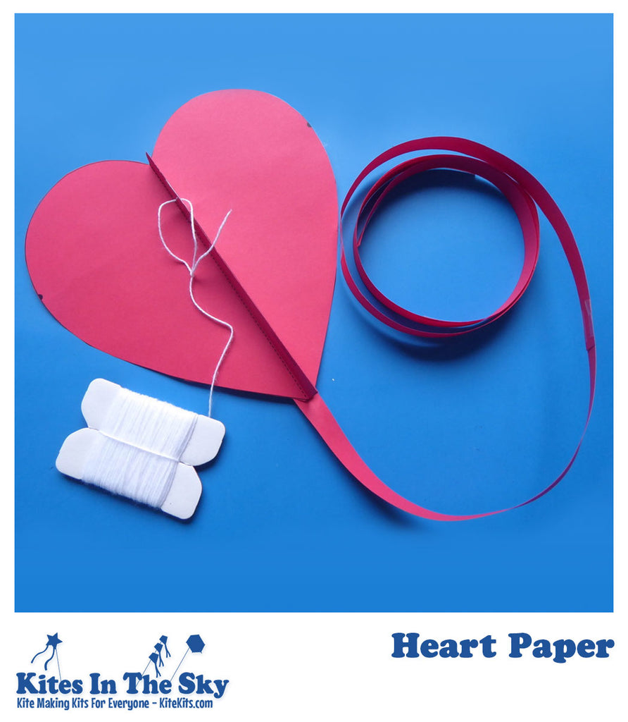 Heart Paper Kite - Kites In The Sky