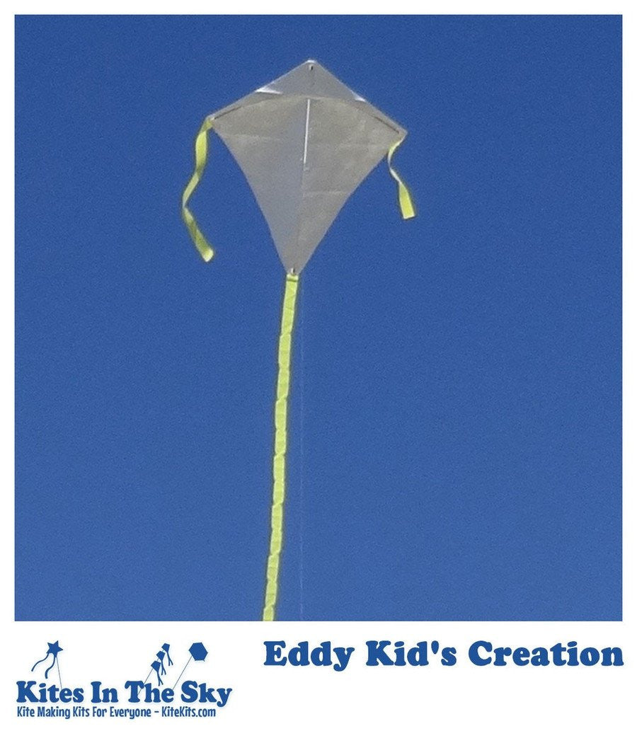 Ready To Fly Kite Kit - Eddy Kid's Creation Kite Kit (6 Pk)