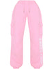 HIDDEN CULT Terra Pink Cuffed Sweatpants Light pink Streetwear Loose fit pocket utility cargo pants