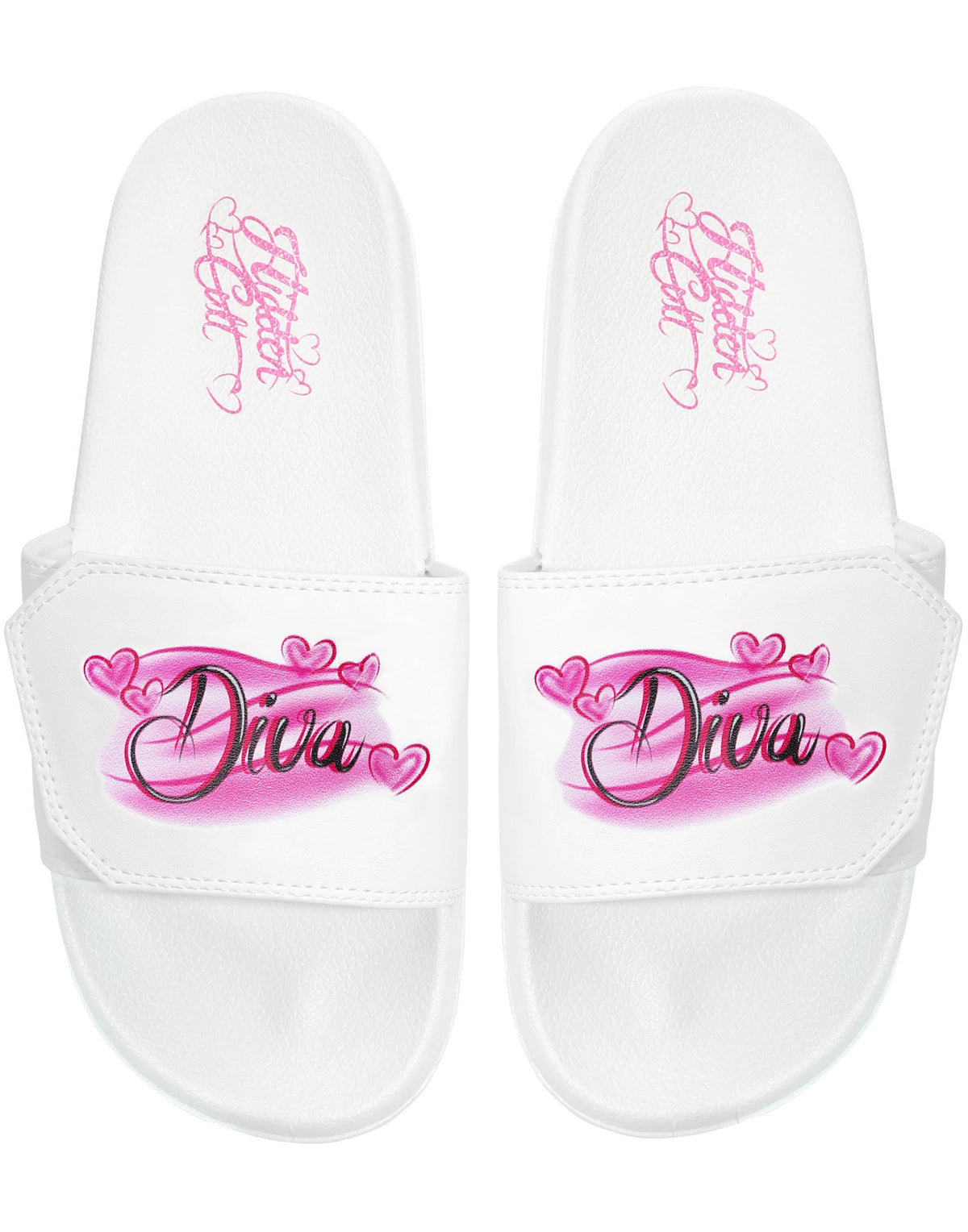 Diva 90's Airbrush White Slides