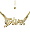 HIDDEN CULT Diva Rhinestone 18K Gold Plated Necklace Women Streetwear Accessories Rhinestone Letters