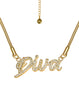 Diva Rhinestone 18K Gold Plated Necklace