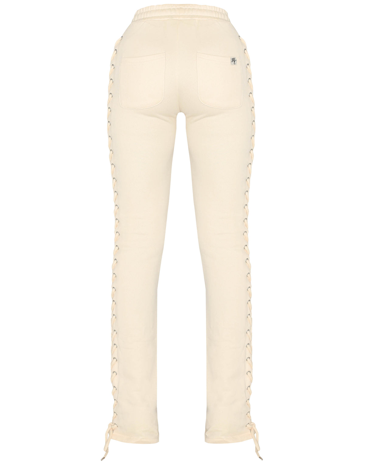 Wynn Laced Up Cream Off White Pants