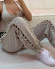 HIDDEN CULT Wynn Laced Up Taupe Cuffed Pants Green Fashion Loose fit Sweatpants Fashion Streetwear
