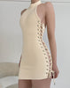 Wynn Laced Up Cream Off White Dress