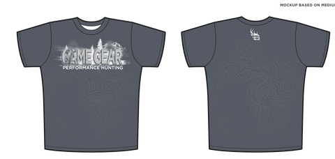 Men's Hunting T-Shirt -Charcoal