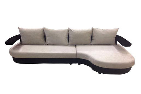 Apollo White L Shape Sofa